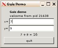 GUIS - a GUI widget server release 1 6 on Thu, 30 Dec 2004